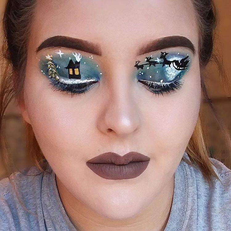 "<p>NYX Cosmetics' <a rel=""nofollow"" href=""https://www.instagram.com/abbiegreavesmakeup/"">Abbie Greaves</a> finds some inspo in a <a rel=""nofollow"" href=""https://www.instagram.com/p/BOQArQ3Aial/?taken-by=abbiegreavesmakeup"">winter starry night</a>. (Photo: Instagram) </p>"