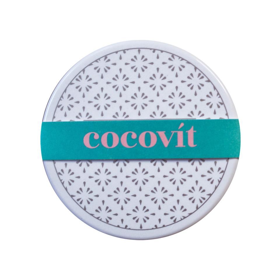 "<p>All natural, ethically sourced and really works to ward off winter weather. <a href=""http://www.cocovit.co/shop/orange-basil-lip-balm"">Cocovit Orange + Basil Lip Balm</a> ($14)</p>"