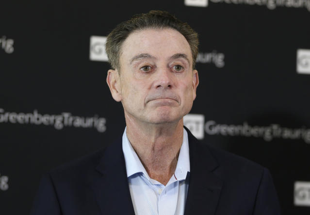 "Rick Pitino says he didn't name his horse ""Party Dancer"" and didn't see what the problem was until he caught flak for it. (AP)"