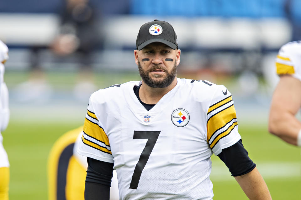 Ben Roethlisberger is available for the Week 10 game after coming off the reserve/COVID-19 list. (Wesley Hitt/Getty Images)