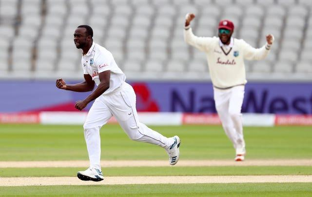 Kemar Roach, left, was a thorn in England's side in Barbados at the start of 2019 (Michael Steele/PA)