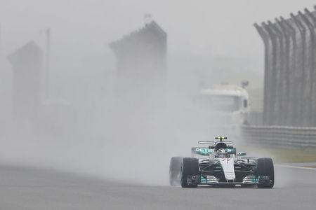 Formula One - F1 - Chinese Grand Prix - Shanghai, China - 7/4/17 - Mercedes Formula One driver Valtteri Bottas of Finland drives during the first practice session. REUTERS/Aly Song