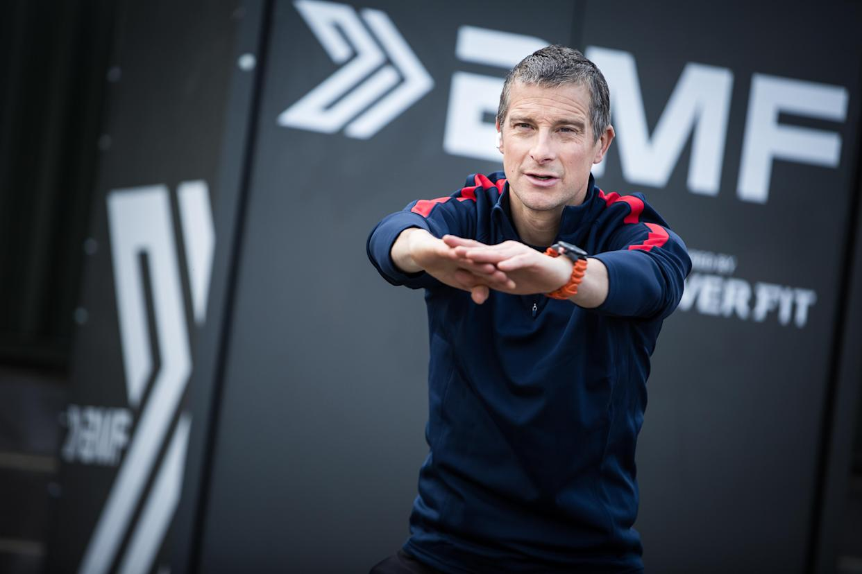 Grylls said training outside was better for physical and mental health (Be Military Fit/PA)
