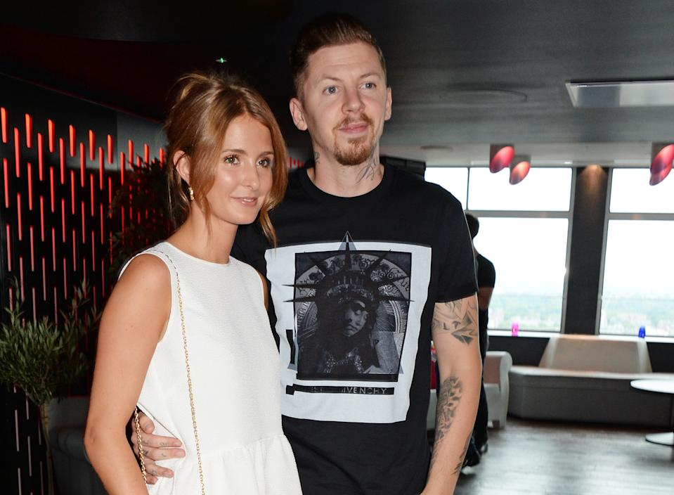 LONDON, ENGLAND - JULY 28: Millie Mackintosh (L) and Professor Green attend the 'Walkers 'Do Us A Flavour' finalists launch at Paramount, Centre Point on July 28, 2014 in London, England. (Photo by David M. Benett/Getty Images)