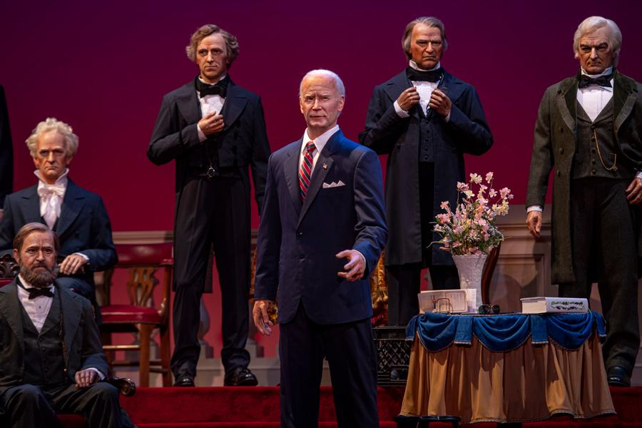 Joe Biden is added to the Hall of Presidents at Disney theme parks (Photo: Disney Parks Blog)