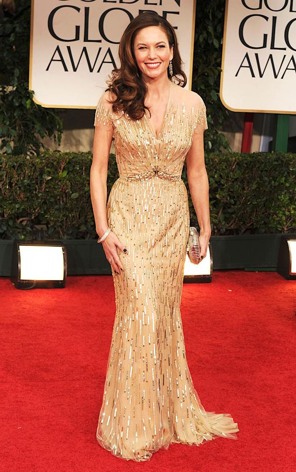 Diane Lane arrive at the 69th Annual Golden Globe Awards in Beverly Hills, California, on January 15.
