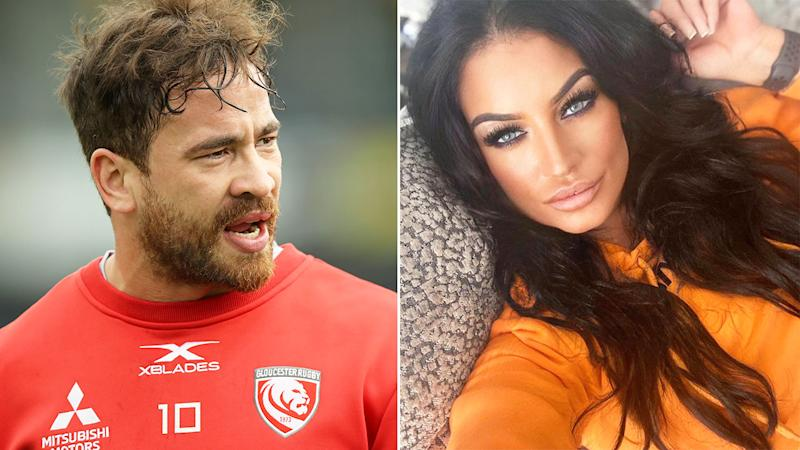 Pictured here, Danny Cipriani and his fiancee Victoria Rose.