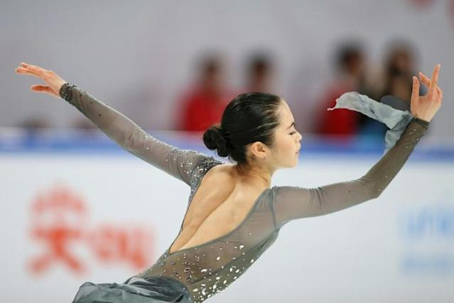 Japan's Satoko Miyahara took Silver at the ISU Grand Prix Cup of China figure skating event (AFP Photo/STR)