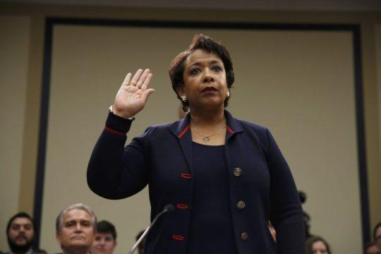 Attorney General Loretta Lynch is sworn in prior to testifying before a House Judiciary Committee hearing. (Photo: Jonathan Ernst/Reuters)