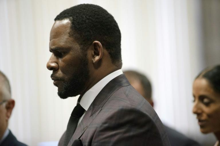 R. Kelly, shown here in Chicago court in 2019, stood trial in Brooklyn after decades of sexual abuse allegations (AFP/POOL)