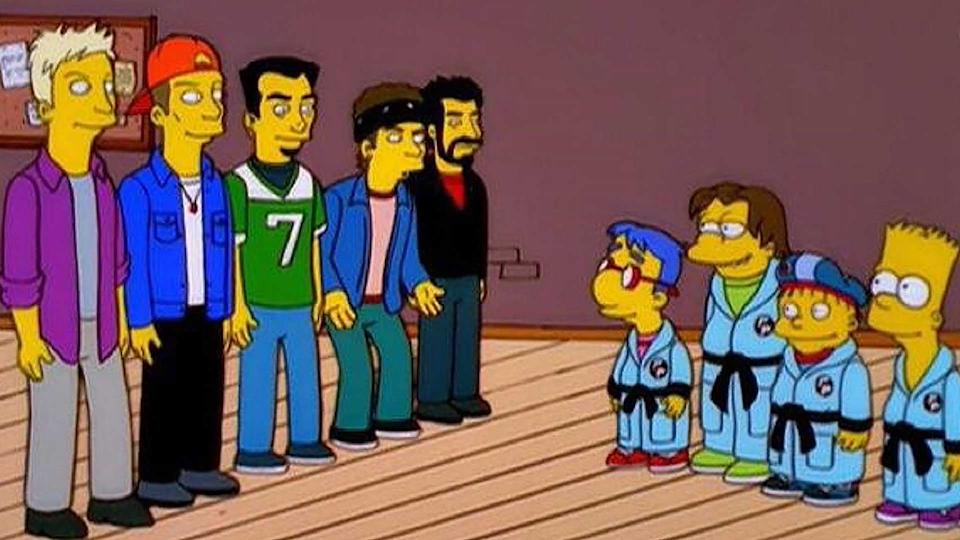The team behind the N Sync guest episode of The Simpsons had fun with Justin Timberlake's lines