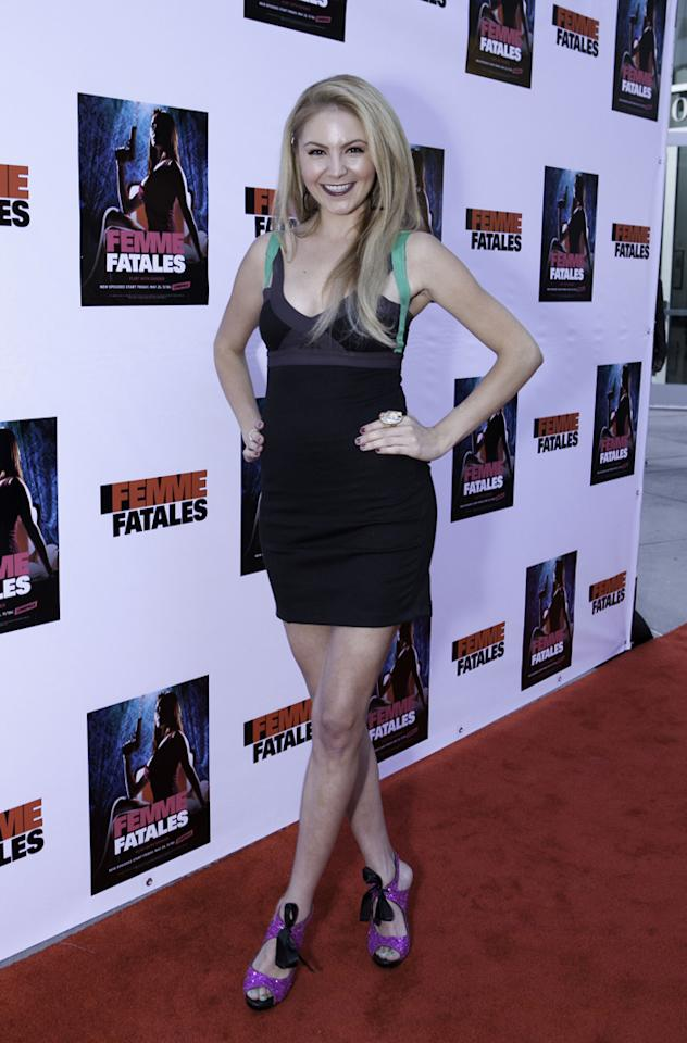"""Madison Dylan attends Cinemax's New Series """"Femme Fatales"""" - Cast & Crew Screening at ArcLight Hollywood on May 21, 2012 in Hollywood, California."""