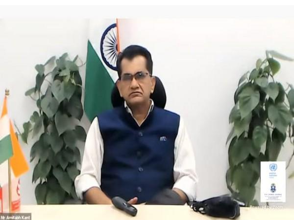 NITI Aayog CEO Amitabh Kant speaking at the programme on Monday.