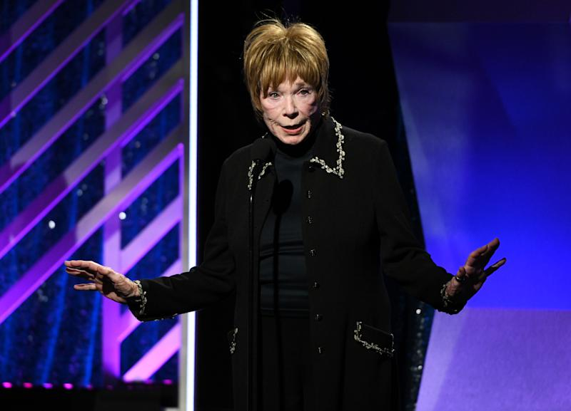 BEVERLY HILLS, CALIFORNIA - FEBRUARY 04: Shirley MacLaine accepts the Career Achievement Award at AARP The Magazine's 18th Annual Movies for Grownups Awards at the Beverly Wilshire Four Seasons Hotel on February 04, 2019 in Beverly Hills, California. (Photo by Michael Kovac/Getty Images for AARP)