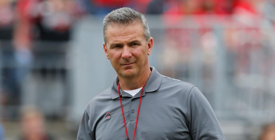 Urban Meyer's three-game suspension has ended and his return news conference was something. (AP)