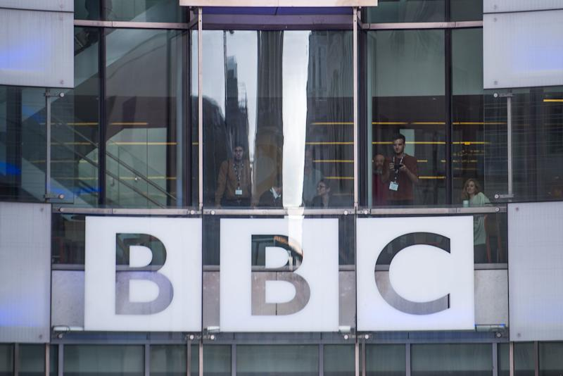 """File photo dated 21/12/2018 of the logo on BBC's Broadcasting House in London. Women at the BBC continue to be paid """"far less"""" than men for the same work, a report into equal pay at the broadcaster has said."""