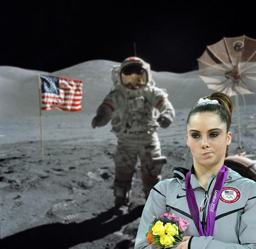 McKayla Maroney is not impressed with the Moon landing.