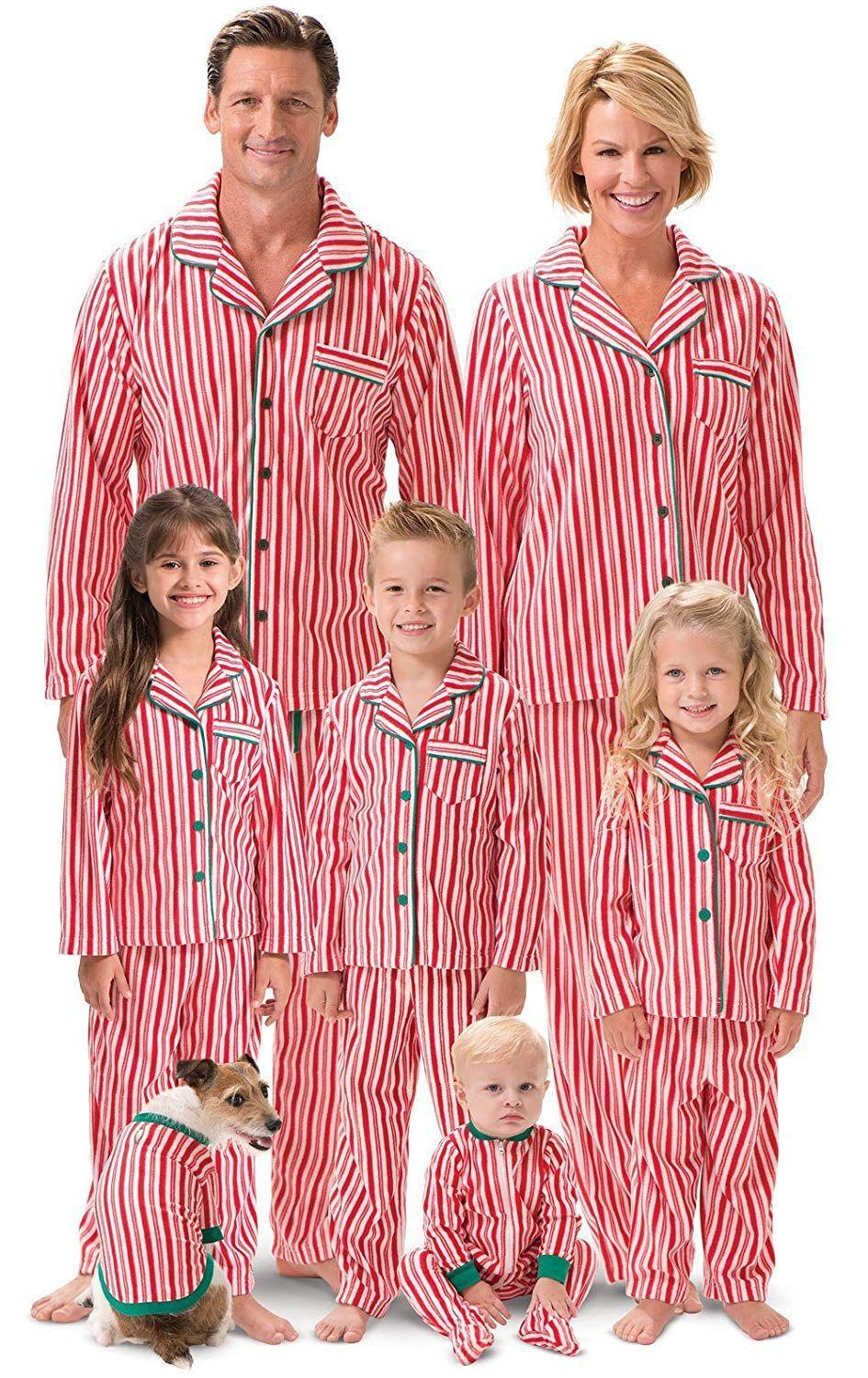 """<p><strong>PajamaGram</strong></p><p>amazon.com</p><p><strong>$74.99</strong></p><p><a href=""""http://www.amazon.com/dp/B00QVOKC52/?tag=syn-yahoo-20&ascsubtag=%5Bartid%7C10050.g.4956%5Bsrc%7Cyahoo-us"""" rel=""""nofollow noopener"""" target=""""_blank"""" data-ylk=""""slk:Shop Now"""" class=""""link rapid-noclick-resp"""">Shop Now</a></p><p>These matching jammies are as sweet as candy (canes).</p>"""
