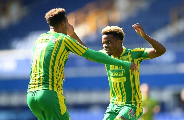 Grady Diangana, right, scored for West Brom