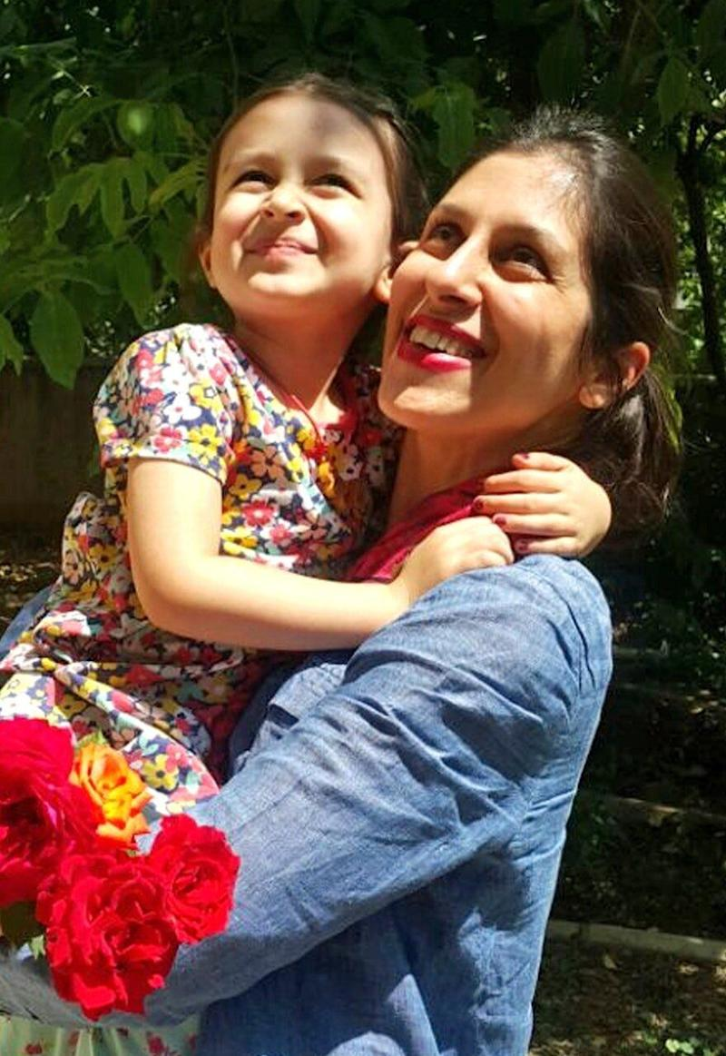 Nazanin Zaghari-Ratcliffe and her daughter Gabriella before her imprisonment. (Photo: PA)