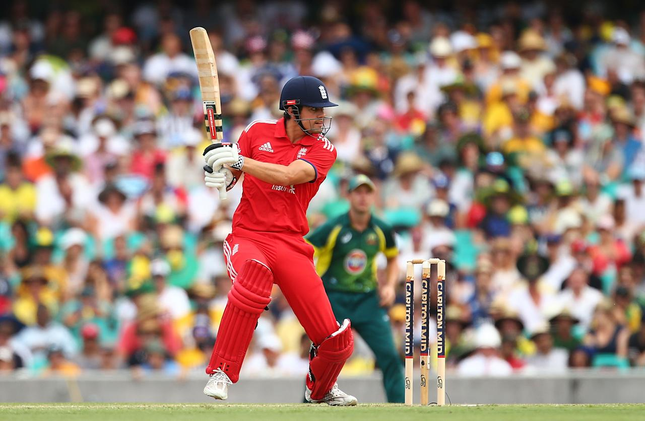 SYDNEY, AUSTRALIA - JANUARY 19:  England captain Alastair Cook bats during game three of the One Day International Series between Australia and England at Sydney Cricket Ground on January 19, 2014 in Sydney, Australia.  (Photo by Mark Nolan/Getty Images)