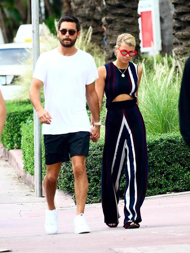 "<p>It's <em>officiaaaaal</em>. After weeks of speculation, Scott Disick and Sofia Richie took their romance public in Miami. The new couple kissed and cozied up on social media and are officially dating. <a href=""https://www.yahoo.com/style/scott-disick-sofia-richie-item-211224155.html"" data-ylk=""slk:Anyone else asking… whut?;outcm:mb_qualified_link;_E:mb_qualified_link"" class=""link rapid-noclick-resp newsroom-embed-article"">Anyone else asking… <em>whut</em>?</a> (Photo: VEM/Backgrid) </p>"