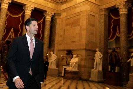 House Speaker Paul Ryan (R-WI) walks on Capitol Hill in Washington