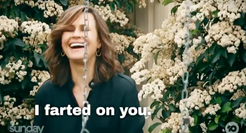 Lisa Wilkinson laughing on The Project