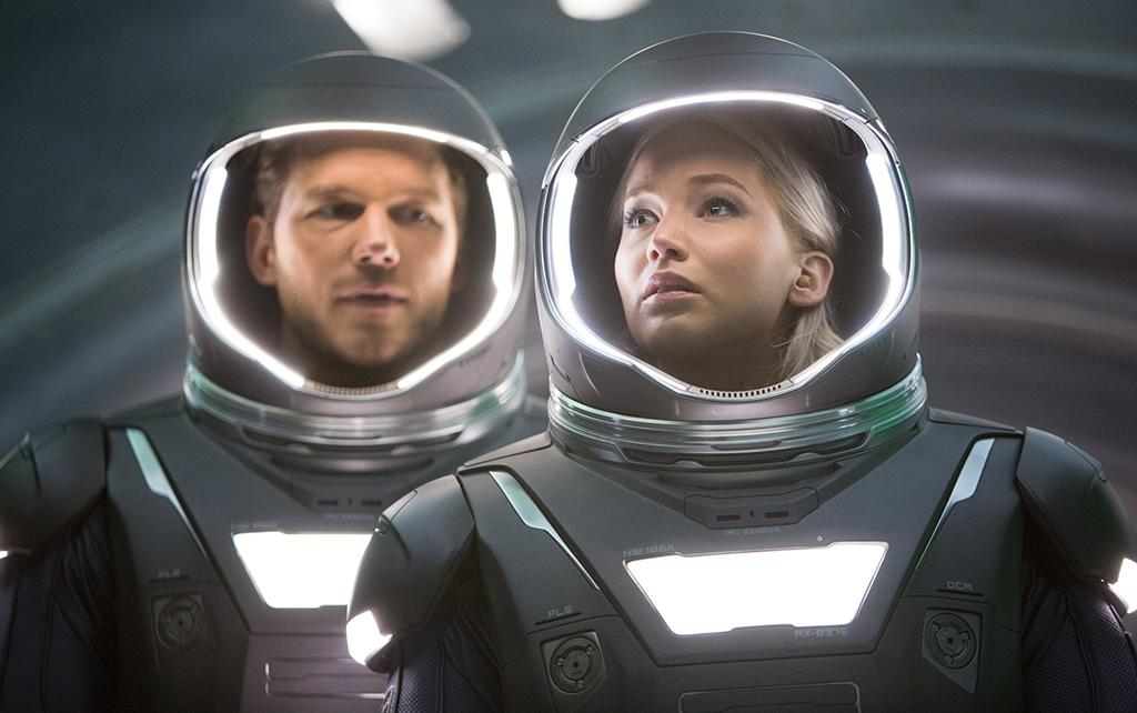 <p>Chris Pratt and Jennifer Lawrence play future space travelers on a long-distance journey. (Photo: Columbia Pictures) </p>