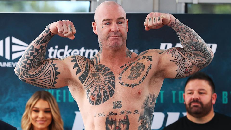 Lucas Browne let rip when asked about Paul Gallen's pre-fight talk. (Photo by Mark Metcalfe/Getty Images)