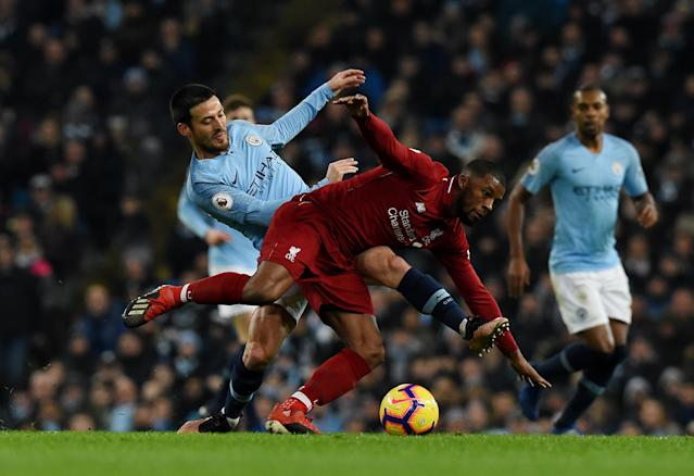 Manchester City and Liverpool were neck-and-neck for the Premier League title last season before City prevailed. (Photo by John Powell/Liverpool FC via Getty Images)