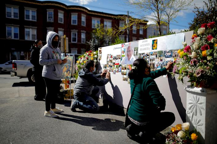 IMAGE: Memorial service in Massachusetts (Brian Snyder / Reuters file)
