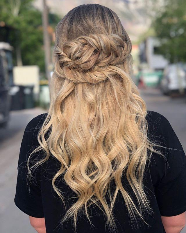 """<p>While this look definitely requires extensions, it would be the perfect style for a fun night out. Clip in extensions that are the same length as your natural hair—you're hoping to make your hair look fuller, not longer—and braid the front pieces over the clip-ins.</p><p><a href=""""https://www.instagram.com/p/ByshrZnlB8j/"""" rel=""""nofollow noopener"""" target=""""_blank"""" data-ylk=""""slk:See the original post on Instagram"""" class=""""link rapid-noclick-resp"""">See the original post on Instagram</a></p>"""