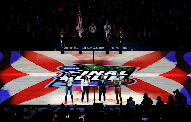 Many liked the Final Four's unique national anthem, but as is always the case with things that are different, there were plenty of detractors. (AP)