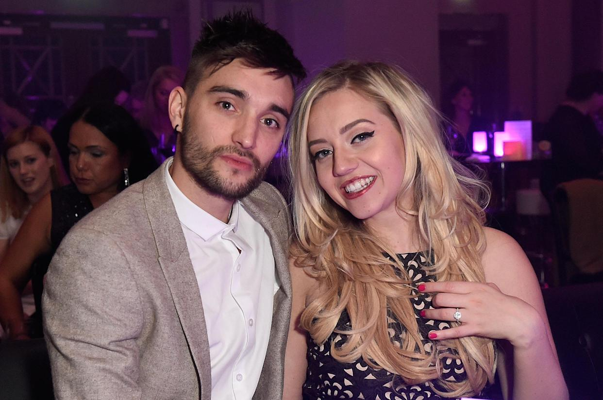 LONDON, ENGLAND - MAY 04:  Tom Parker and Kelsey Hardwick attend The London Cabaret Club launch party at The Bloomsbury Ballroom on May 4, 2016 in London, England.  (Photo by David M. Benett/Dave Benett / Getty Images for The London Cabaret Club )