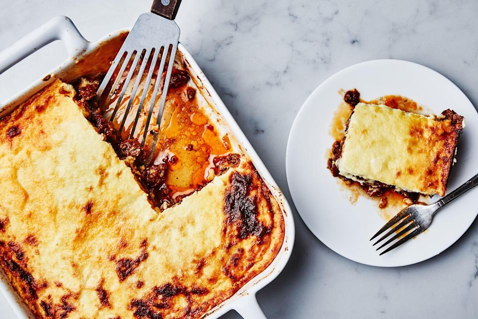"<a href=""https://www.bonappetit.com/recipe/moussaka?mbid=synd_yahoo_rss"" rel=""nofollow noopener"" target=""_blank"" data-ylk=""slk:See recipe."" class=""link rapid-noclick-resp"">See recipe.</a>"