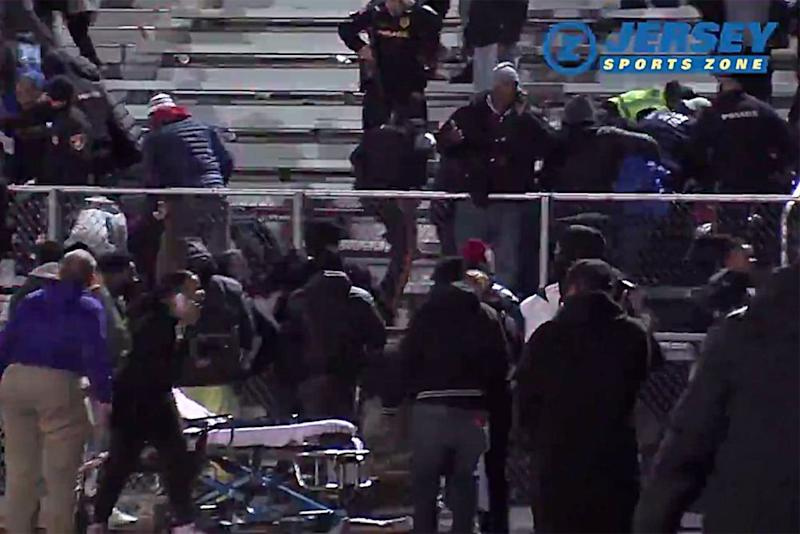 People fleeing the crowd at the scene | Jersey Sports Zone/Twitter