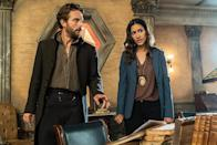 """<p><b>This Season's Theme: </b> Now that Abbie Mills is gone, Ichabod's dramatic and thematic journey involves finding a new family. """"He's torn between his role as warrior, hero and leader, and doesn't feel at all at home,"""" says showrunner Clifton Campbell. <br><br><b>Where We Left Off: </b> Abbie's sacrifice saved Sleepy Hollow from the tyrannical rule of The Hidden One, but robbed Ichabod of an equal partner and Jenny of a beloved sister. With so many memories bound up in that small town, it's no wonder they've opted to relocate to a bigger burg, Washington D.C., to continue their search for the next Witness. <br><br><b>Coming Up: </b> New city, new faces, including <i>True Blood</i>'s Janina Gavankar as Secret Service agent, Diana Thomas, who joins Ichabod and Jenny's ongoing fight against evil. <i>Lost</i>'s Jeremy Davies arrives in the nation's capital as incoming Big Bad, tech billionaire Malcolm Dreyfus. But before Crane can confront Dreyfus, he's got to deal with a host of new D.C.-centric monsters. """"We're hitting new notes this season in terms of our monsters,"""" Campbell says, pointing to a coven of Beltway witches, a Revolutionary War-era despair creature, and a demonic John Wilkes Booth. <br><br><b>Stages of Grief: </b> It's no secret that <i>Sleepy Hollow</i> fans are taking Abbie's passing hard. (Her death was voted 2016's <a rel=""""nofollow"""" href=""""https://www.yahoo.com/tv/yahooies-2016-outlander-us-richonne-slideshow-wp-171251333/photo-p-paranormal-partnership-launched-thousand-photo-171251050.html?soc_src=mail&soc_trk=ma"""" data-ylk=""""slk:&quot;Most Infuriating Plot Twist&quot;;outcm:mb_qualified_link;_E:mb_qualified_link;ct:story;"""" class=""""link rapid-noclick-resp yahoo-link"""">""""Most Infuriating Plot Twist""""</a> in our annual Yahooies awards.) Campbell insists the premiere deals with the """"tremendous loss"""" right away. """"[But] moving forward is something that people who fight evil have to do. I think we're presenting an iteration of <i>Sleepy Hollow</i> they'll lo"""