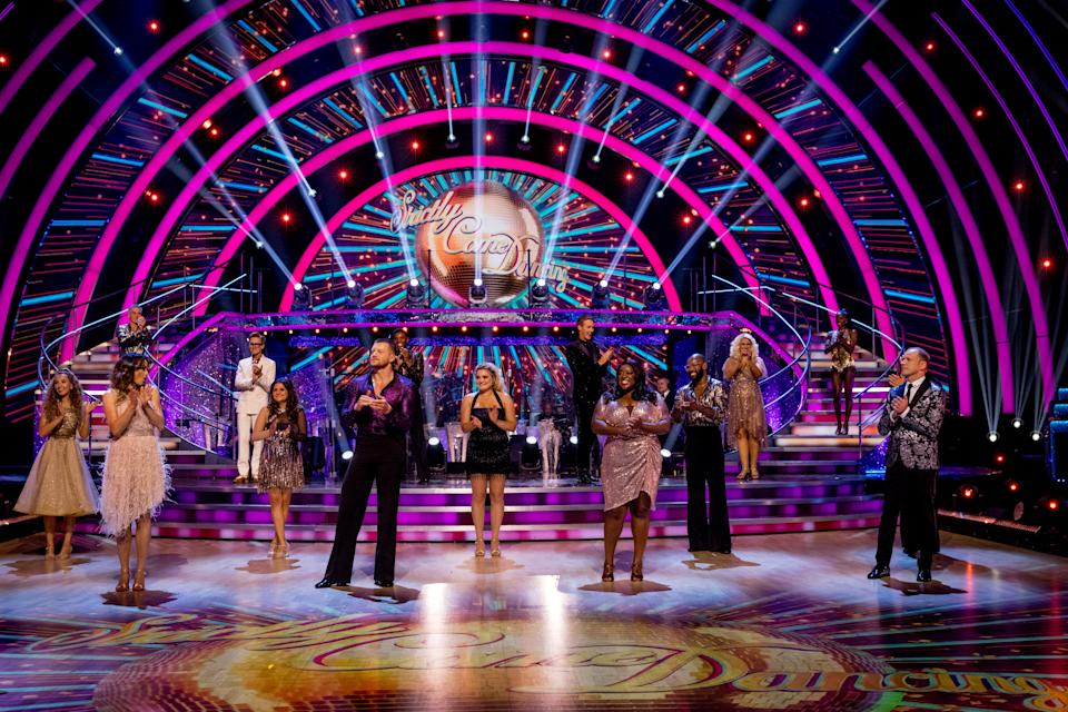 Programme Name: Strictly Come Dancing 2021 - TX: 18/09/2021 - Episode: Strictly Come Dancing - Launch Show (No. n/a) - Picture Shows:  The Strictly Come Dancing Celebrities - (C) BBC - Photographer: Guy Levy