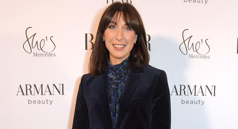 Samantha Cameron has released a non-medical face covering to her fashion label Cefinn. (Getty Images)