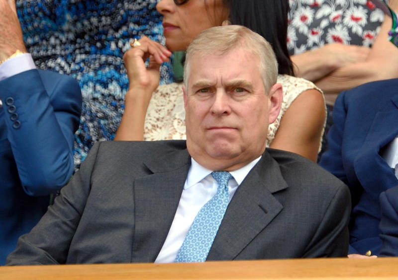 LONDON, ENGLAND - JULY 10: Prince Andrew, Duke of York attends day eleven of the Wimbledon Tennis Championships at Wimbledon on July 10, 2015 in London, England. (Photo by Karwai Tang/WireImage)