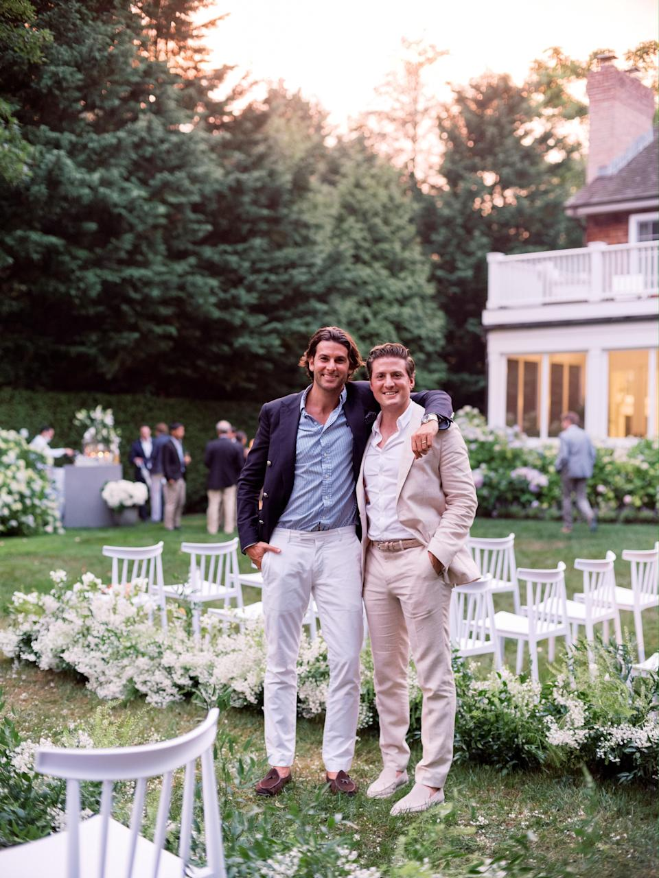 Ben and his older brother, Scott, just before the reception started.