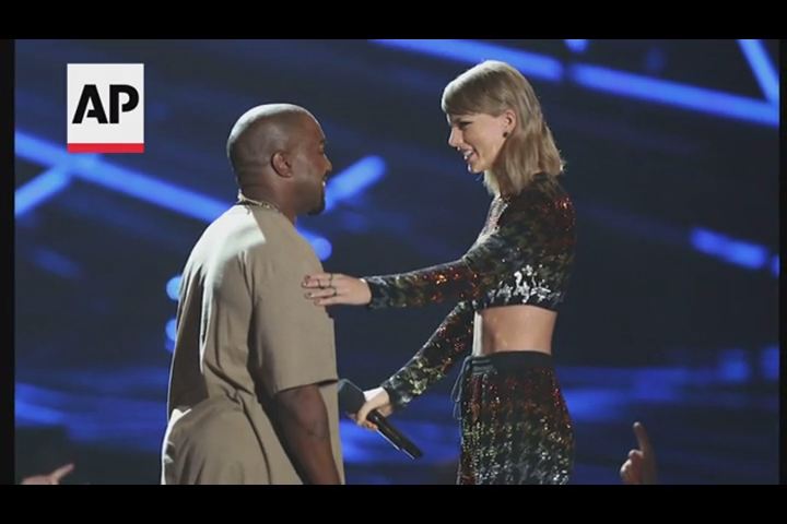 Kanye West apologized to Taylor Swift over their MTV run-in, and said he would run for president.