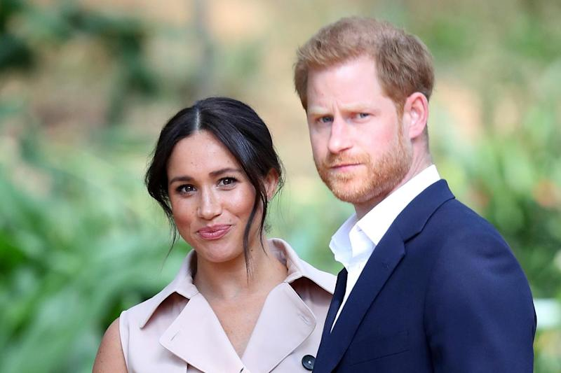 Prince Harry and Meghan in Johannesburg, South Africa, October 2019. (Getty Images)
