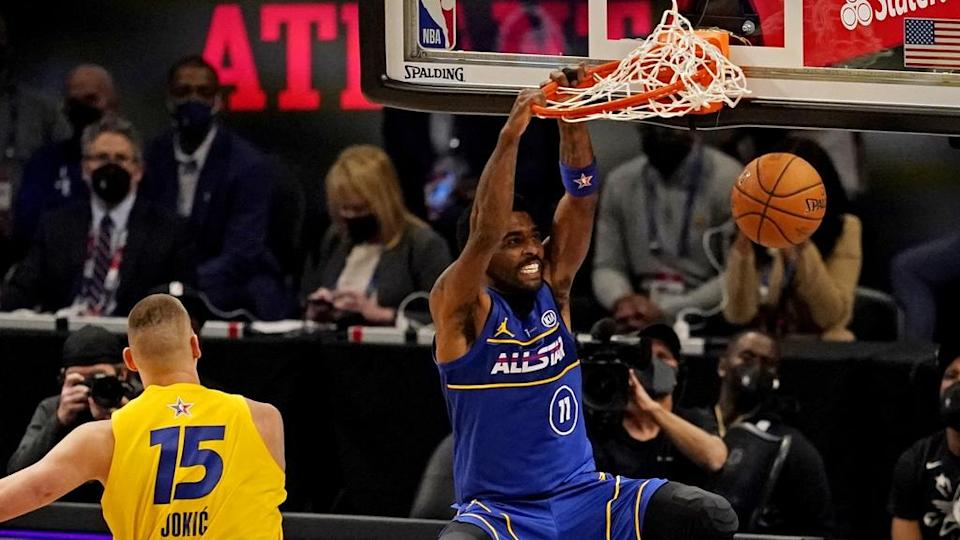 Kyrie Irving dunks at All-Star game