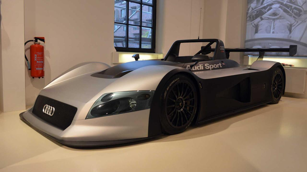 """<p>Before Audi went on its astonishing run of success with the R8 and later R10 prototypes at Le Mans it built the R8R.</p> <p>The car was entered in the 1999 12 Hours of Sebring and 24 Hours of Le Mans. It wasn't hugely successful, but it bettered the British-built R8C, which was a similar coupe prototype.</p> <p>The open-topped philosophy was chosen, the R8C project was abandoned and the R8R eventually morphed into the now-legendary R8.</p><h2>More motoring museums</h2><ul><li><a href=""""https://uk.motor1.com/news/251681/mercedes-museum-stuttgart-merc-paradise/?utm_campaign=yahoo-feed"""">The Mercedes Museum in Stuttgart is a Merc lovers paradise</a></li><br><li><a href=""""https://uk.motor1.com/features/237276/car-museum-plans-cotswolds/?utm_campaign=yahoo-feed"""">A world-leading car museum is being planned for the Cotswolds</a></li><br></ul>"""
