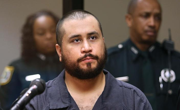 George Zimmerman listens to the judge during his first-appearance hearing in Sanford, Florida November 19, 2013. A central Florida judge freed Zimmerman on $9,000 bond on Tuesday and forbade him from possessing weapons or ammunition on charges of aggravated assault with a deadly weapon and domestic violence during a dispute with his girlfriend. REUTERS/Joe Burbank/Orlando Sentinel/Pool (UNITED STATES - Tags: CRIME LAW)