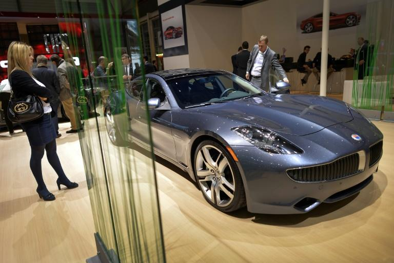 A Fisker Karma luxury electric car. The vehicles produced with Foxconn will however be aiming at the more affordable mass market