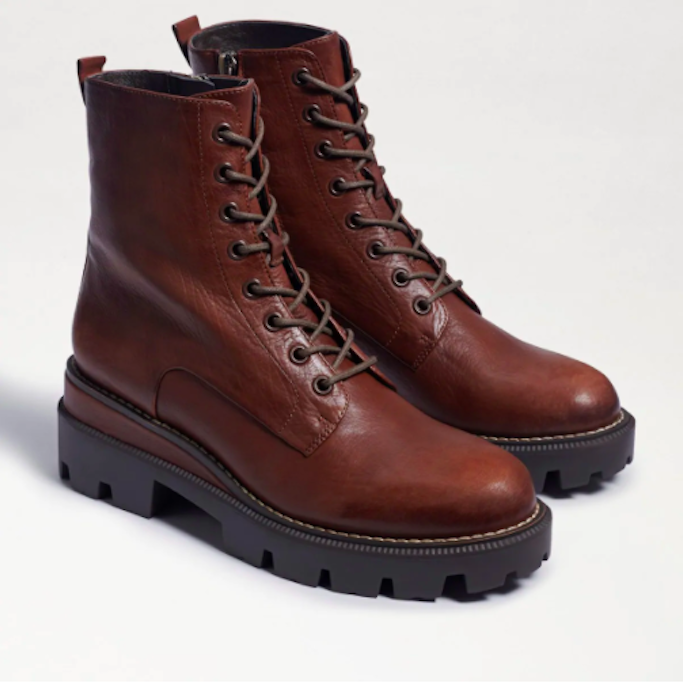 Sam Edelman, combat boots, brown boots, lace-up boots