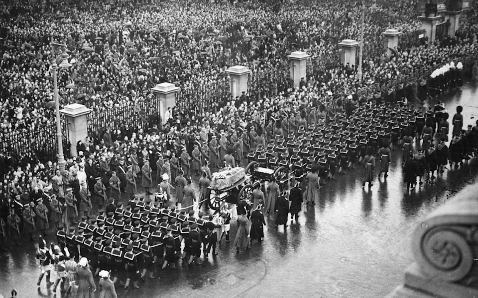 The funeral procession of King George V in London  - Hulton Archive/ Getty Images
